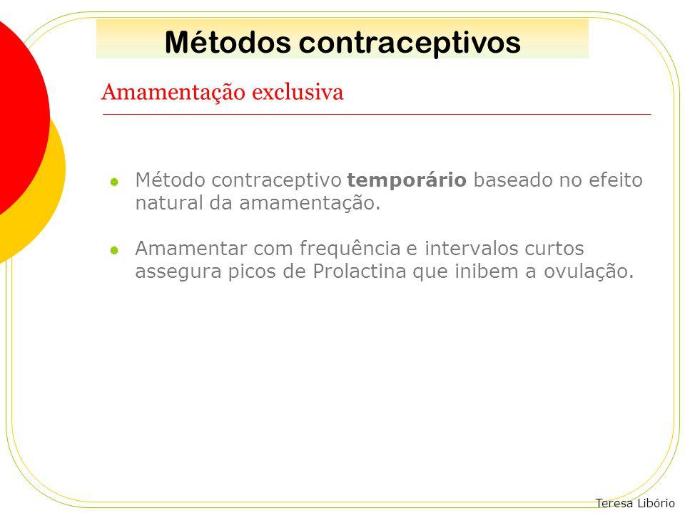 Teresa Libório Amamentação exclusiva Método contraceptivo temporário baseado no efeito natural da amamentação. Amamentar com frequência e intervalos c