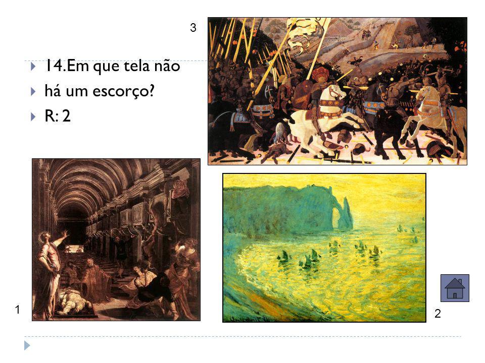  13.Nesta tela de Tintoretto aparecem Ariadne e Venus.  Quem é o personagem à direita da tela (abaixo) ?  R:Baco (Dionísio).