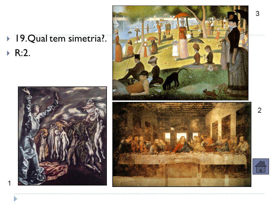 Questão ouro – 5 pontos  18. Qual é o tema bíblico desta tela?  R: Juízo Final