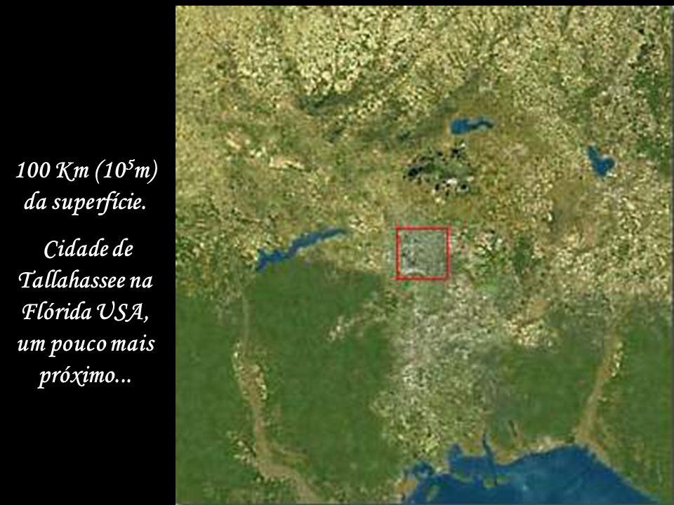 1.000 Km (10 6 m) Foto característica de satélite (estado da Flórida USA).