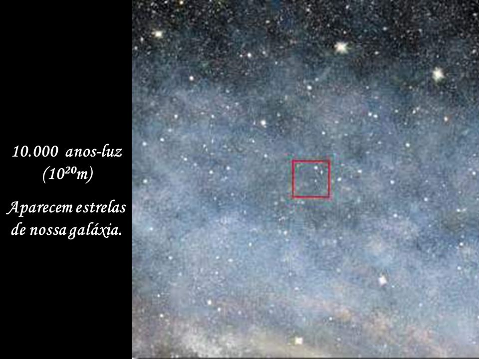 10 milhões de quilômetros (10 10 m) Parte da órbita da Terra.