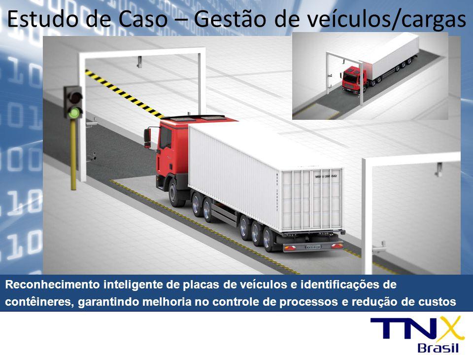 Reconhecimento inteligente de placas de veículos e identificações de contêineres, garantindo melhoria no controle de processos e redução de custos Est