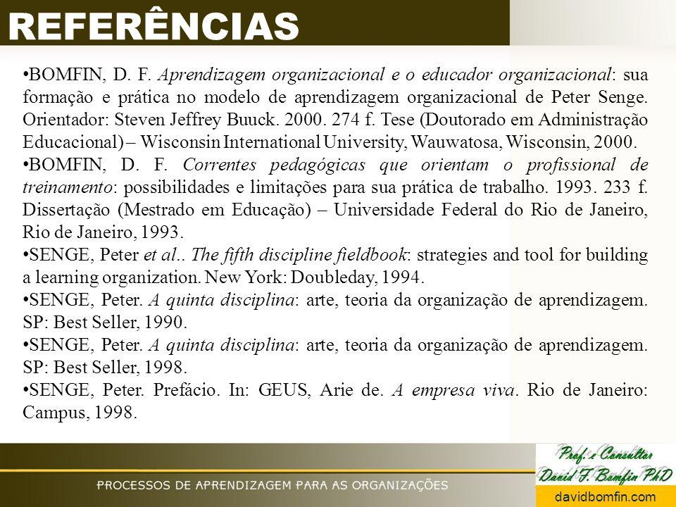 REFERÊNCIAS BOMFIN, D. F.