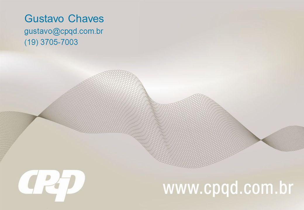 Gustavo Chaves gustavo@cpqd.com.br (19) 3705-7003