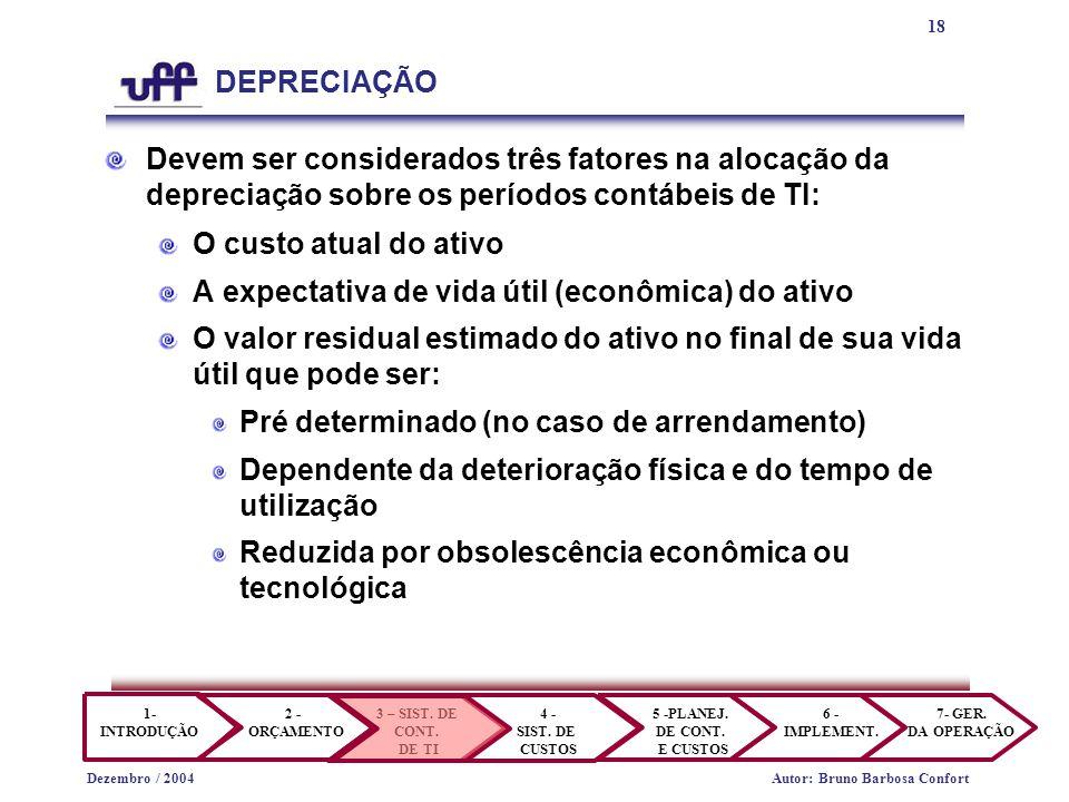 18 1- INTRODUÇÃO 2 - ORÇAMENTO 3 – SIST.DE CONT. DE TI 4 - SIST.