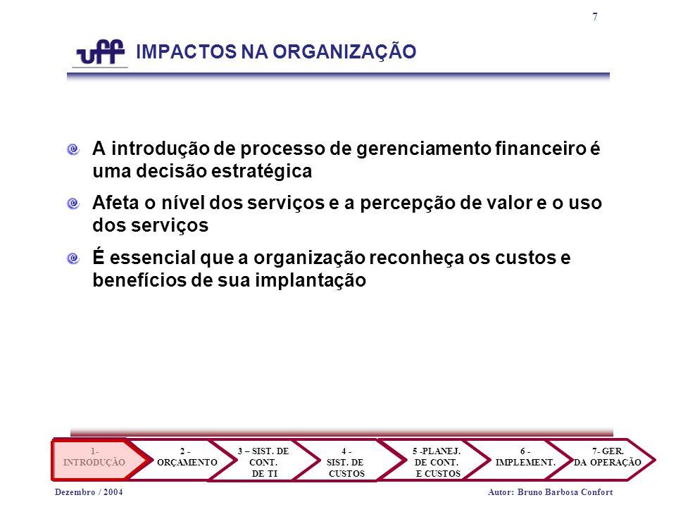 8 1- INTRODUÇÃO 2 - ORÇAMENTO 3 – SIST.DE CONT. DE TI 4 - SIST.