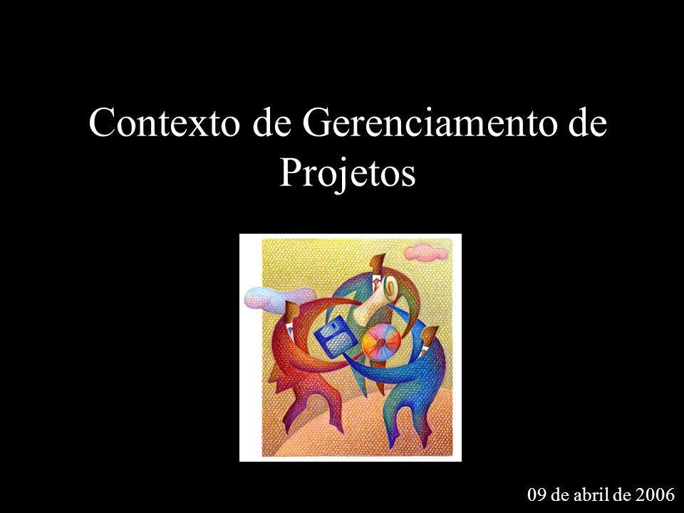 Contexto de Gerenciamento de Projetos 09 de abril de 2006
