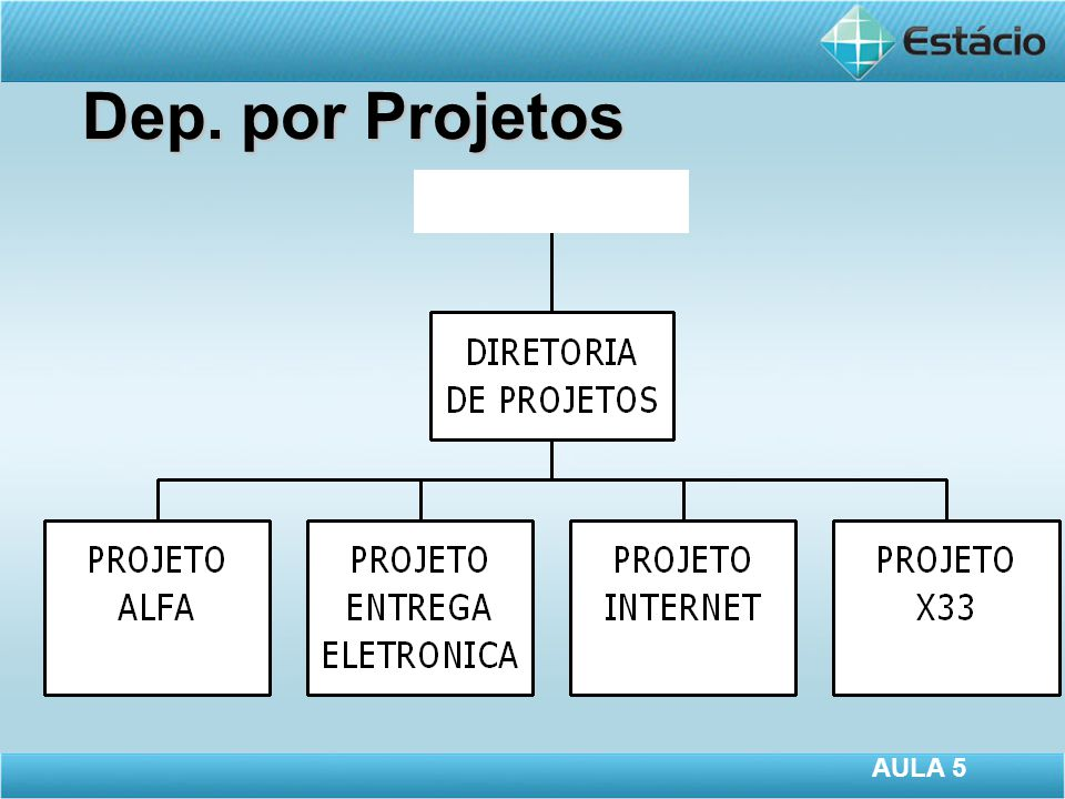 Dep. por Projetos AULA 5