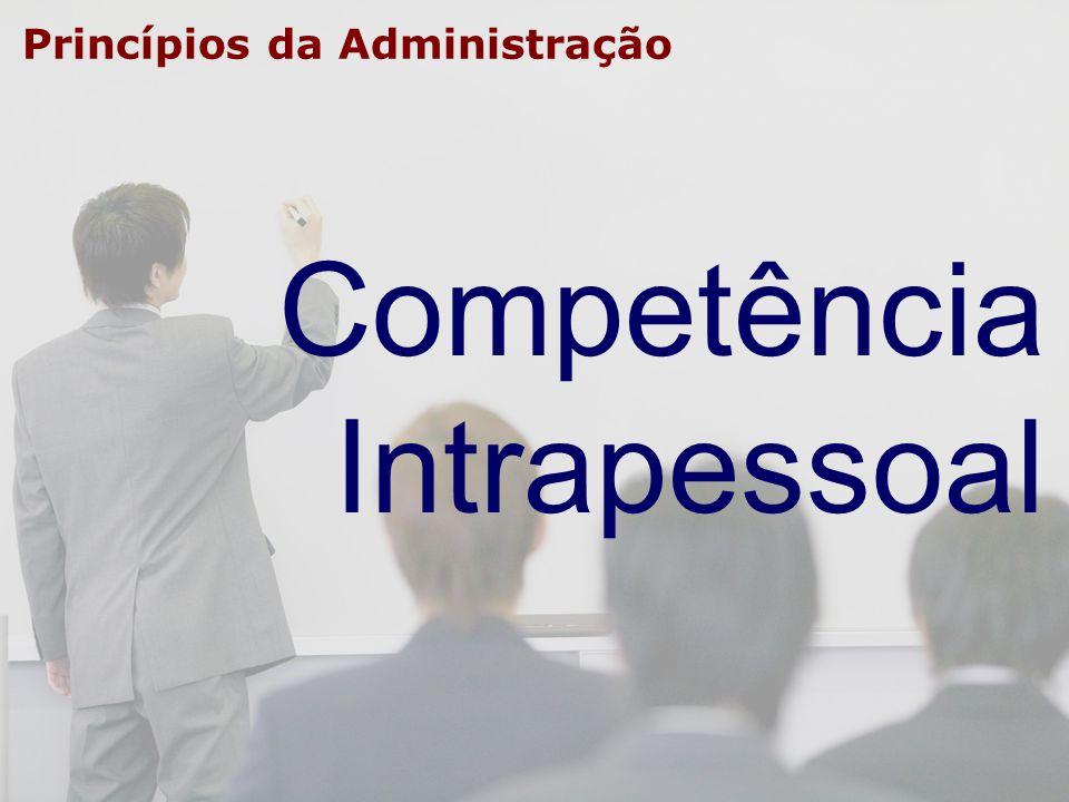 Princípios da Administração Competência Intrapessoal