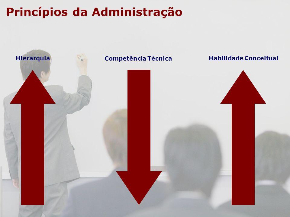 Princípios da Administração Hierarquia Competência Técnica Habilidade Conceitual