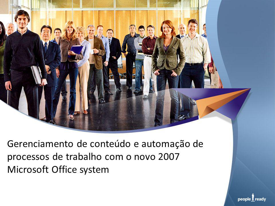  Visão Geral  Soluções do 2007 Office system  Modelo de Otimização de Infra- estrutura para Produtividade  Gerenciamento de Conteúdo  Demo  Caso de Sucesso ONS  Como sua empresa pode se beneficiar
