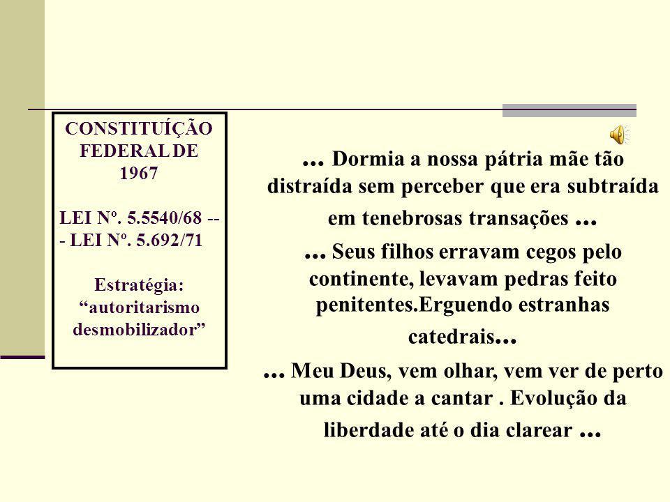 CONSTITUÍÇÃO FEDERAL DE 1967 LEI Nº. 5.5540/68 -- - LEI Nº.