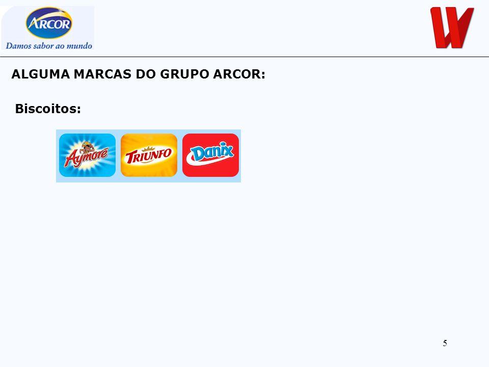 5 ALGUMA MARCAS DO GRUPO ARCOR: Biscoitos: