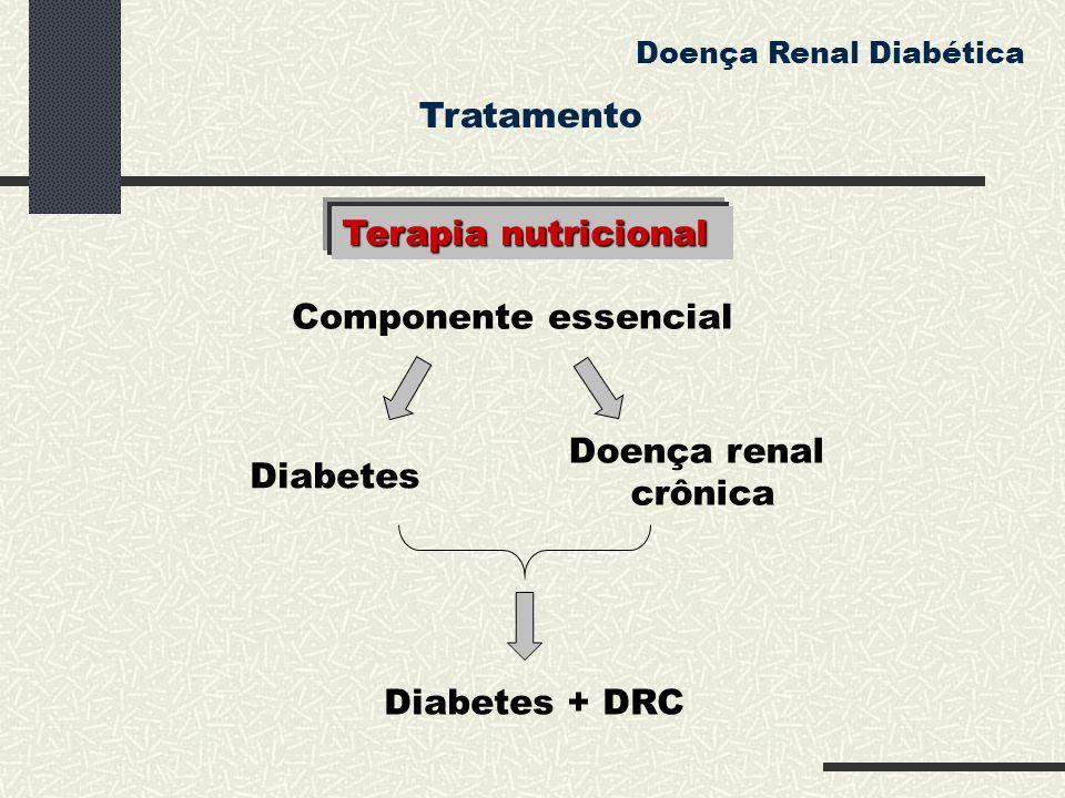 Componente essencial Diabetes Doença renal crônica Diabetes + DRC Doença Renal Diabética Terapia nutricional Tratamento