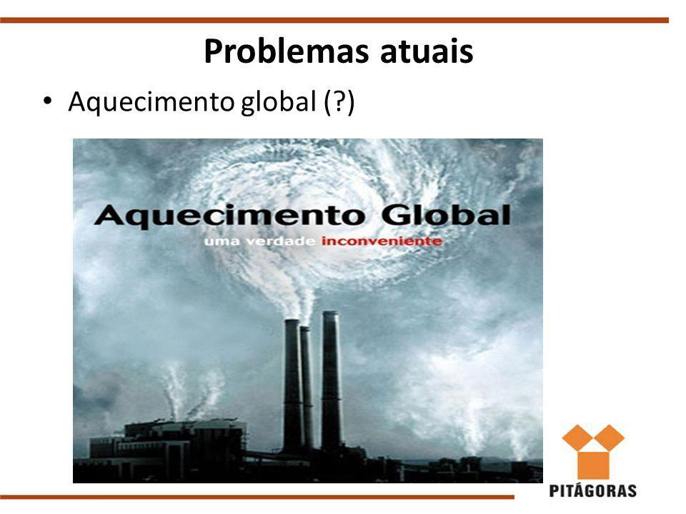 Aquecimento global ( ) Problemas atuais