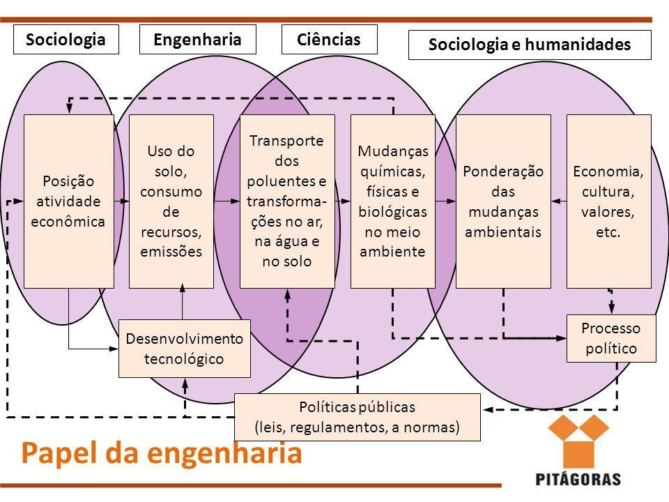 Papel da engenharia Economia, cultura, valores, etc.