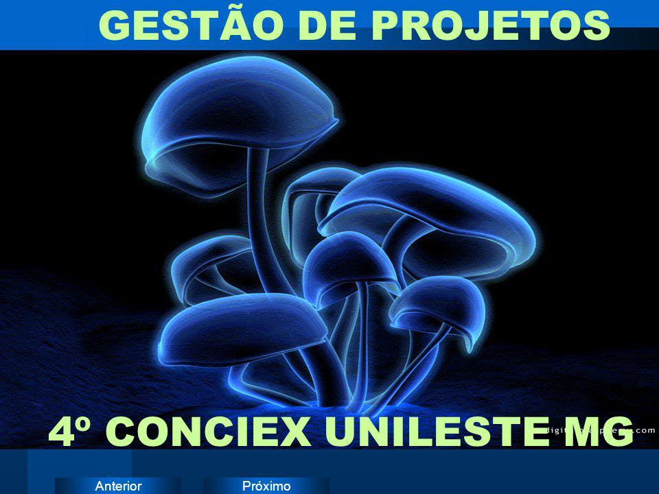 PróximoAnterior GESTÃO DE PROJETOS 4º CONCIEX UNILESTE MG