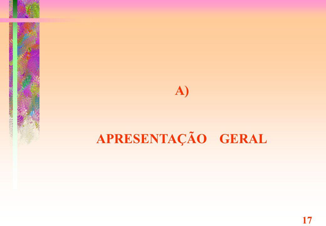 A) APRESENTAÇÃO GERAL 17