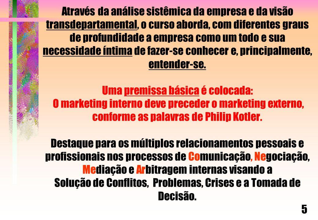 A) APRESENTAÇÃO GERAL B)TTDC s C) SIM / MIS C.1 - CRIAÇÃO DE UM SISTEMA DE INFORMAÇÃO DE MKTG  C.2 - PLANEJAMENTO ESTRATÉGICO E A COLETA DE DADOS  C.3 - AVALIAÇÃO E ANÁLISE DAS INFORMAÇÕES  C.4 - DISSEMINAÇÃO E RESPOSTAS DAS INFO-CHAVE PARA OS PROCESSOS DE TOMADA DE DECISÃO-TD C.5 - TD EM CONFLITOS, PROBLEMAS E CRISES C.6 – MAPA DO CONHECIMENTO – MATRIZ DA INT.EMPRES-IE D)EXERCÍCIO E) ENDEREÇO DO AUTOR 16