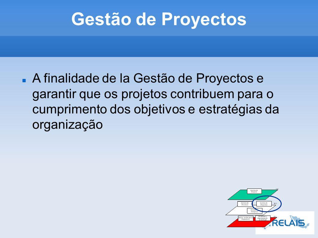 A finalidade de la Gestão de Proyectos e garantir que os projetos contribuem para o cumprimento dos objetivos e estratégias da organização Gestão de Proyectos