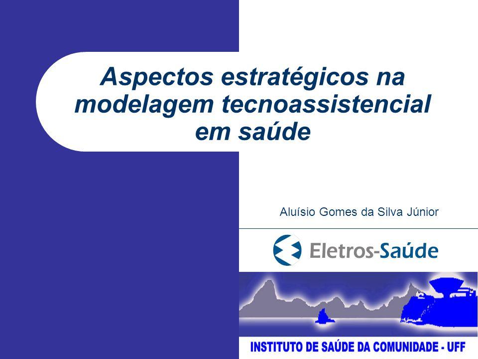 Aspectos estratégicos na modelagem tecnoassistencial em saúde Aluísio Gomes da Silva Júnior