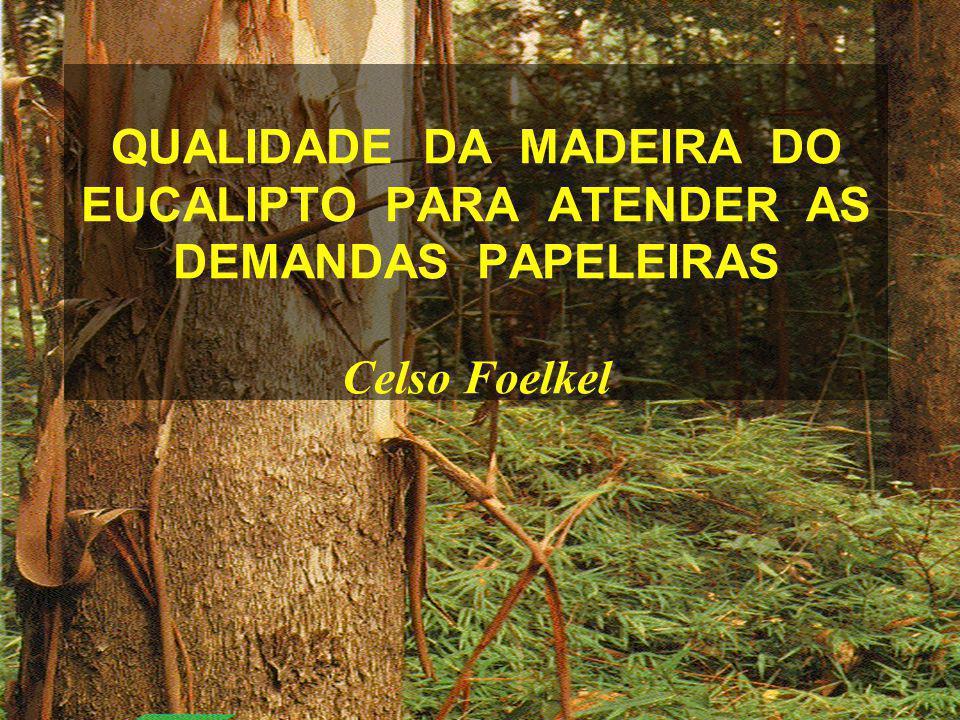 QUALIDADE DA MADEIRA DO EUCALIPTO PARA ATENDER AS DEMANDAS PAPELEIRAS Celso Foelkel