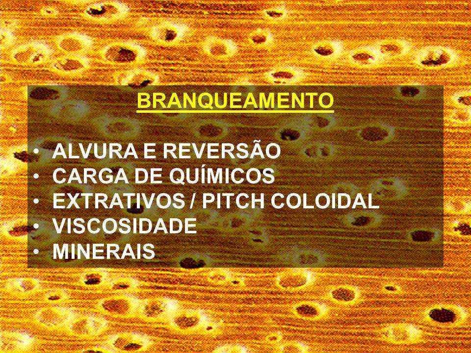BRANQUEAMENTO ALVURA E REVERSÃO CARGA DE QUÍMICOS EXTRATIVOS / PITCH COLOIDAL VISCOSIDADE MINERAIS