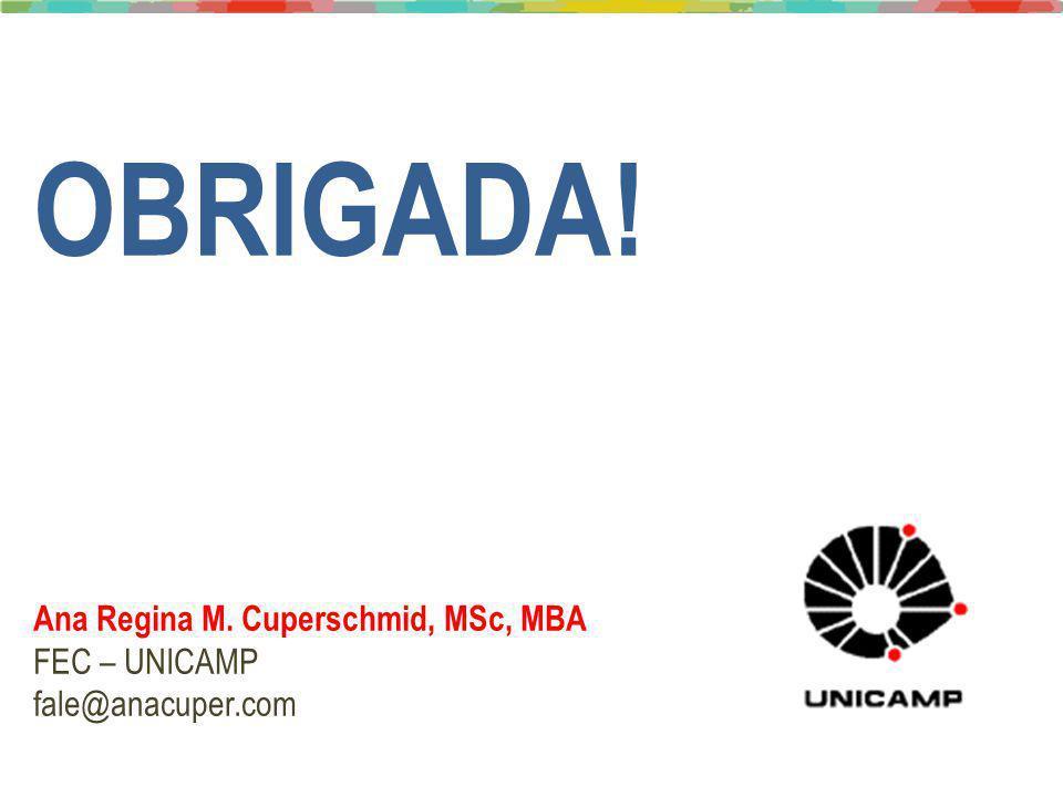 Joni Amorim, PhD - Joni.Amorim@reitoria.unicamp.br / Ana Cuper, MSc – fale@anacuper.com OBRIGADA! Ana Regina M. Cuperschmid, MSc, MBA FEC – UNICAMP fa
