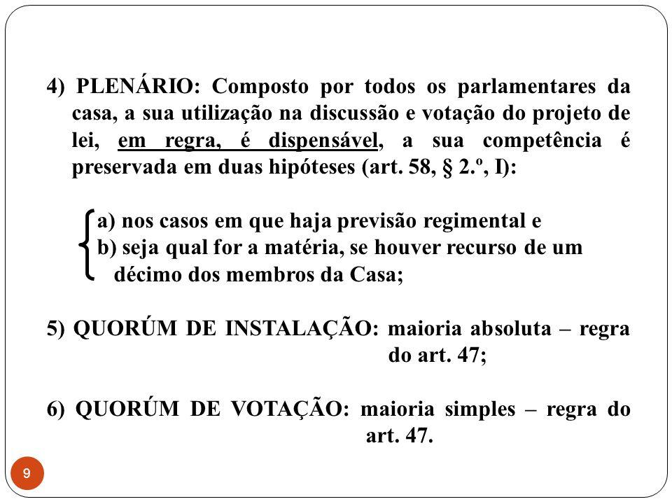 Casa Iniciadora Comis.de Const. e Just. Comissões Temáticas Plenário Casa Revisora Comis.