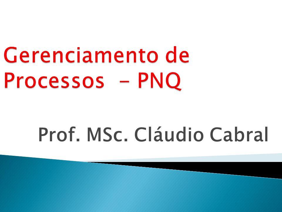Prof. MSc. Cláudio Cabral
