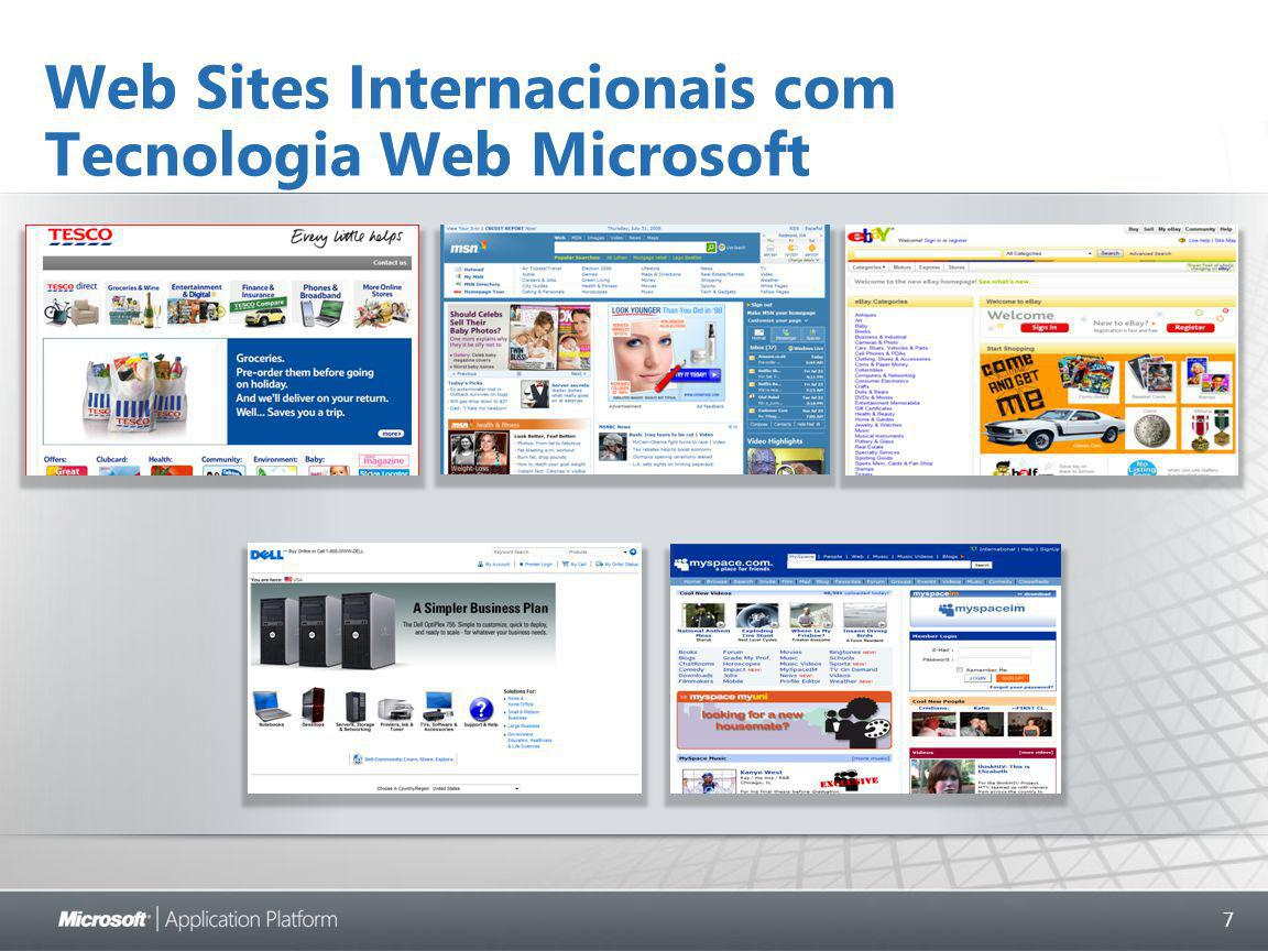 7 Web Sites Internacionais com Tecnologia Web Microsoft