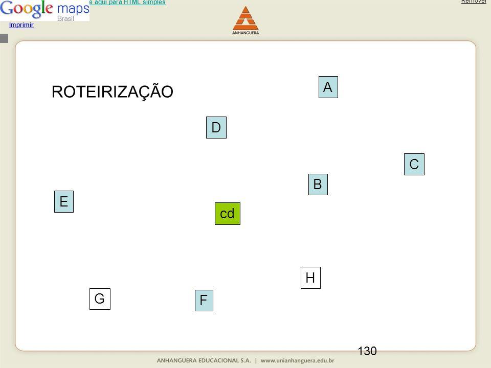130 Usuário de leitor de tela: clique aqui para HTML simples Carregando... Imprimir Remover cd A B C D E F G H ROTEIRIZAÇÃO