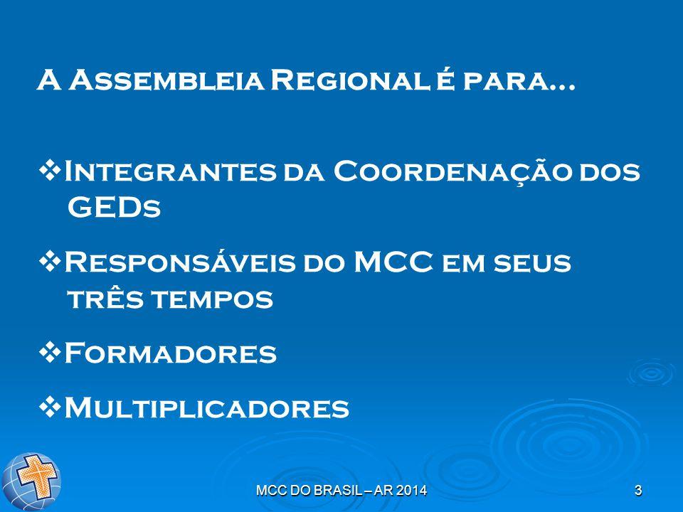MCC DO BRASIL – AR 20143 A Assembleia Regional é para...