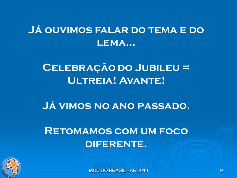 9 Já ouvimos falar do tema e do lema... Celebração do Jubileu = Ultreia.