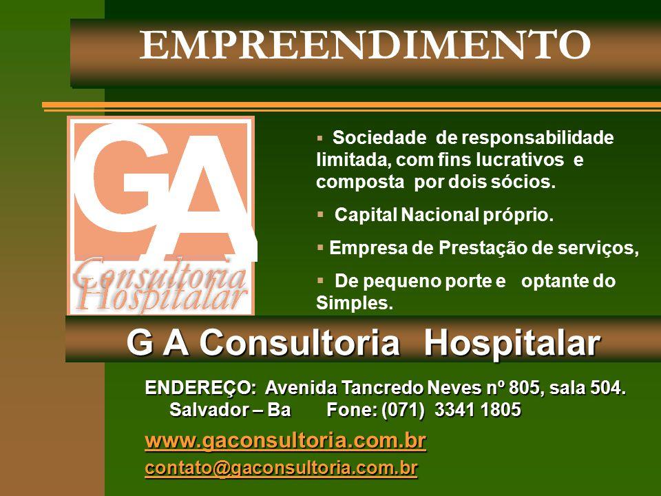 EMPREENDIMENTO ENDEREÇO: Avenida Tancredo Neves nº 805, sala 504. Salvador – Ba Fone: (071) 3341 1805 www.gaconsultoria.com.br contato@gaconsultoria.c
