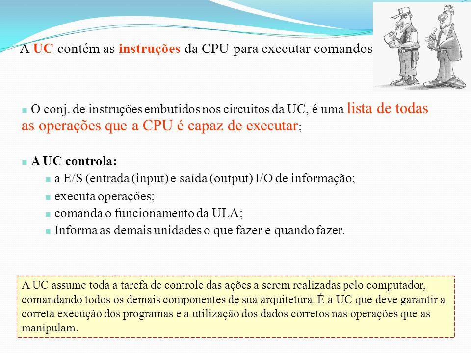 Um programa se caracteriza por uma série de instruções que o computador deve executar. Essas instruções, bem como os dados necessários, são encaminhad