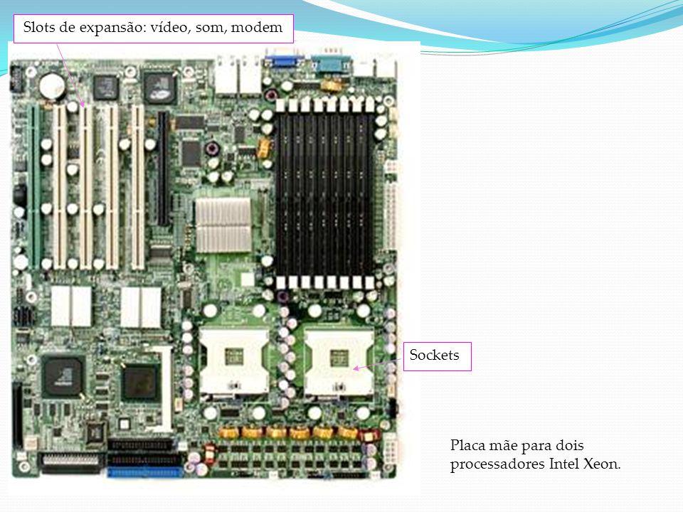 Slot de expansão Um soquete projetado para receber placas de expansão e conectá-las ao barramento de expansão do sistema. é um receptáculo que segura