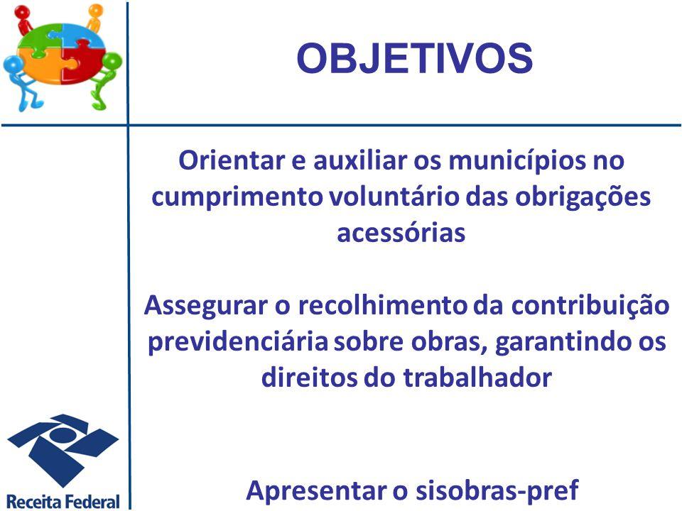 A Lei n.º 8.212/91, que dispõe sobre o Custeio da Previdência Social, com redação dada pela Lei n.º 9.476/97, traz em seu artigo 50, que: Para fins de fiscalização do INSS, o Município, por intermédio do órgão competente, fornecerá relação de alvarás para construção civil e documentos de habite-se concedidos. Receita Federal do Brasil RFB