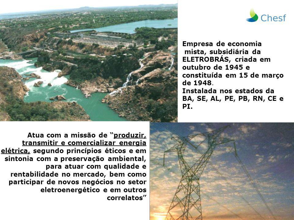 Empresa de economia mista, subsidiária da ELETROBRÁS, criada em outubro de 1945 e constituída em 15 de março de 1948.