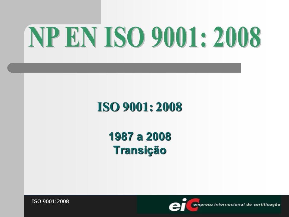 ISO 9001:2008 1987 a 2008 Transição