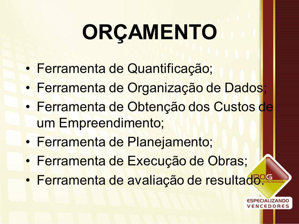 VERTENTES DE CONCEITO OBRA ORÇAMENTO