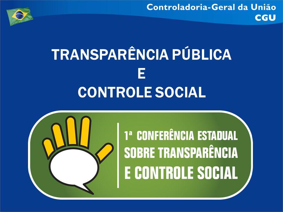 TRANSPARÊNCIA PÚBLICA E CONTROLE SOCIAL