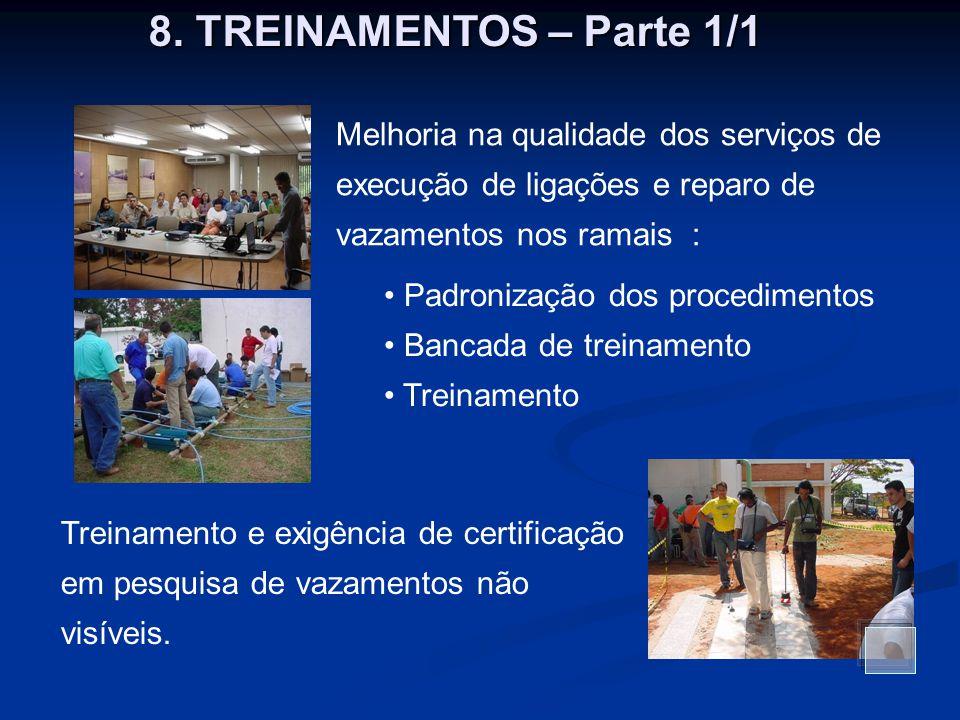 Melhoria na qualidade dos serviços de execução de ligações e reparo de vazamentos nos ramais : Padronização dos procedimentos Bancada de treinamento T