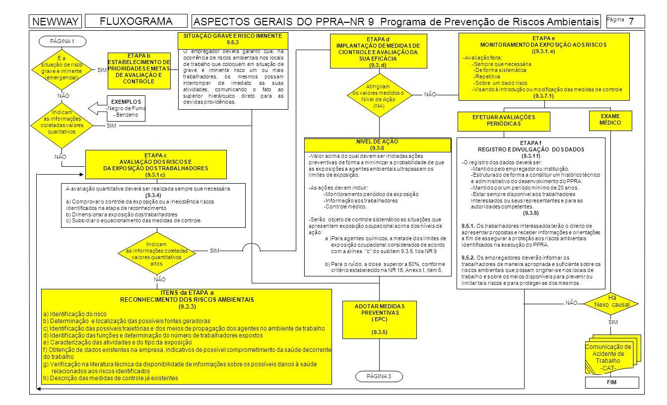 Indicam as informações coletadas valores qualitativos PÁGINA 1 ITENS da ETAPA a RECONHECIMENTO DOS RISCOS AMBIENTAIS (9.3.3) a) Identificação do risco