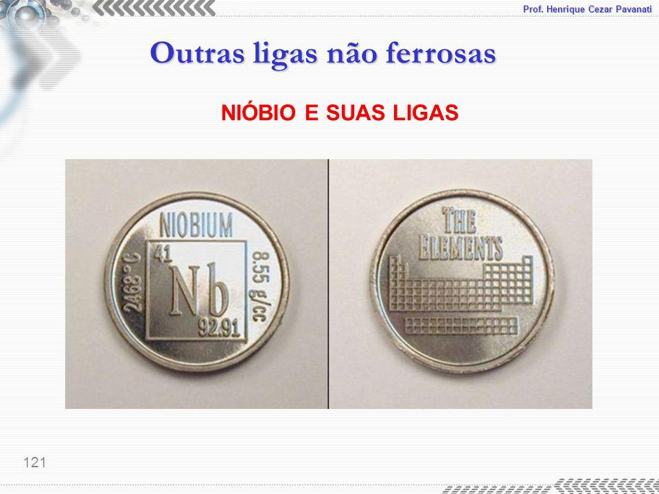 Prof. Henrique Cezar Pavanati Outras ligas não ferrosas 121 NIÓBIO E SUAS LIGAS