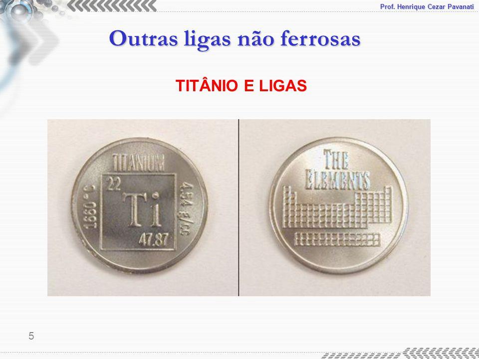 Prof. Henrique Cezar Pavanati Outras ligas não ferrosas 5 TITÂNIO E LIGAS