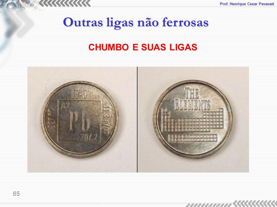 Prof. Henrique Cezar Pavanati Outras ligas não ferrosas 65 CHUMBO E SUAS LIGAS