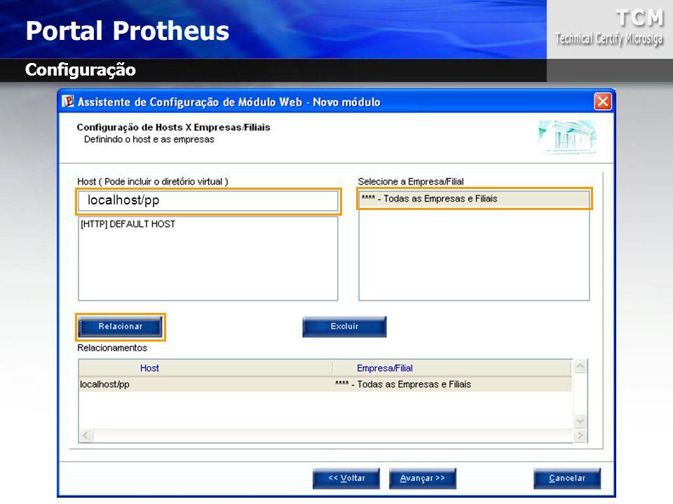 Portal Protheus Configuração localhost/pp