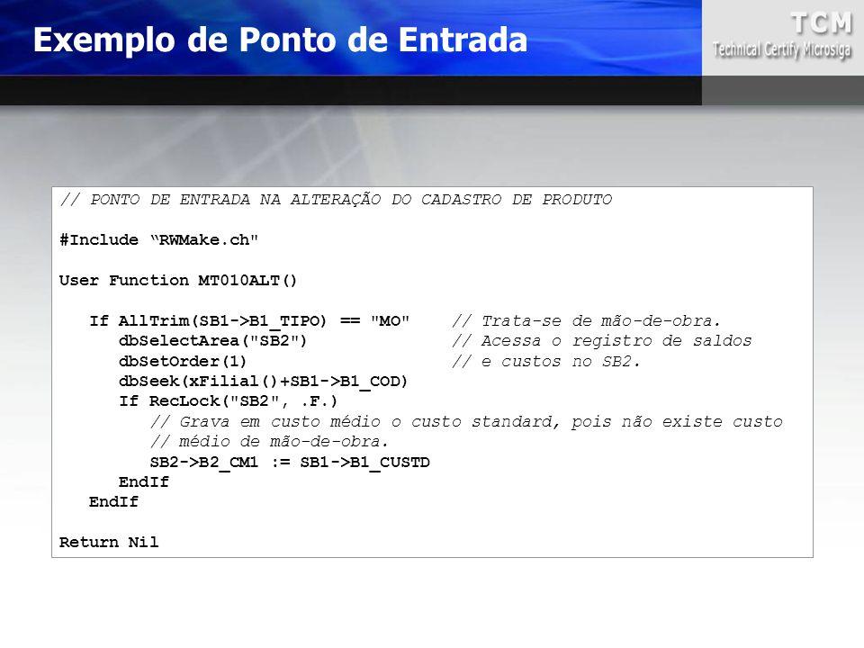 """// PONTO DE ENTRADA NA ALTERAÇÃO DO CADASTRO DE PRODUTO #Include """"RWMake.ch"""