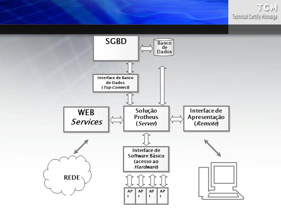 Interface de Banco de Dados (Top Connect) Interface de Banco de Dados (Top Connect) Banco de Dados Interface de Software Básico (acesso ao Hardware) W